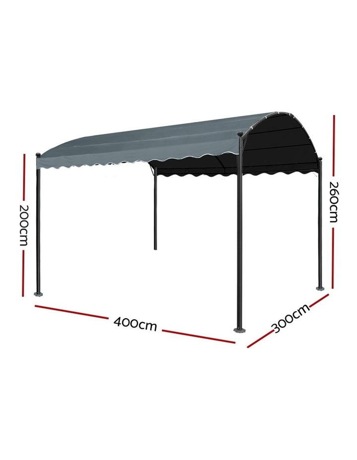 Gazebo 4x3m Party Marquee Outdoor Wedding Event Tent Iron Art Gazebos Grey image 2
