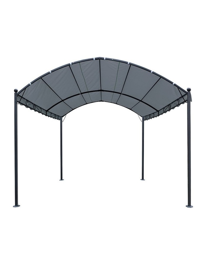 Gazebo 4x3m Party Marquee Outdoor Wedding Event Tent Iron Art Gazebos Grey image 3