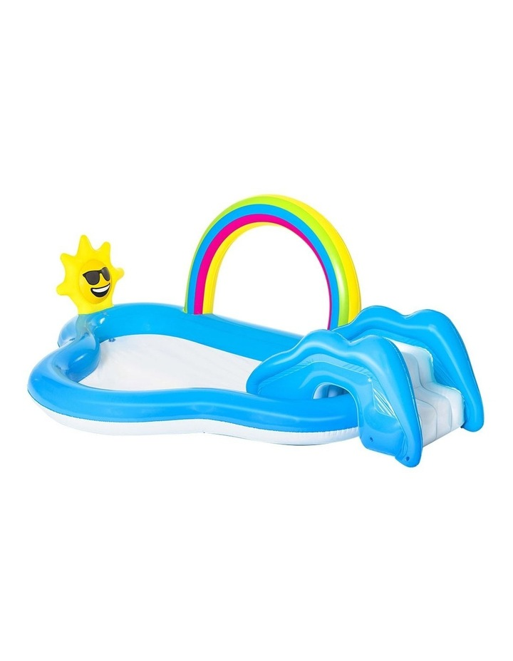 Swimming Pool Rainbow Slide Play Above Ground Kids Inflatable Pools image 1