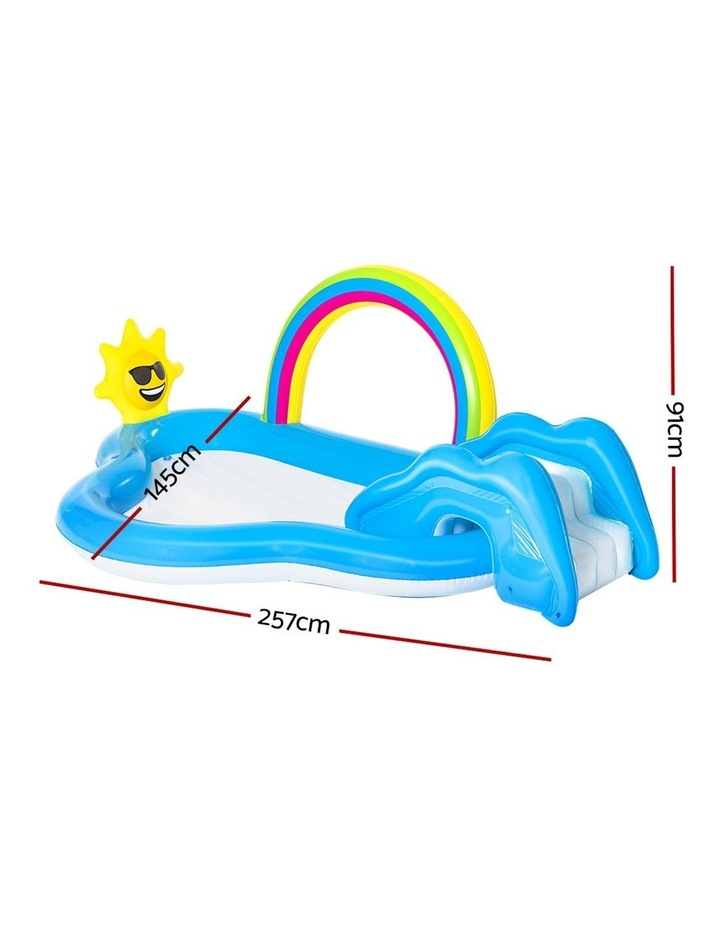 Swimming Pool Rainbow Slide Play Above Ground Kids Inflatable Pools image 2