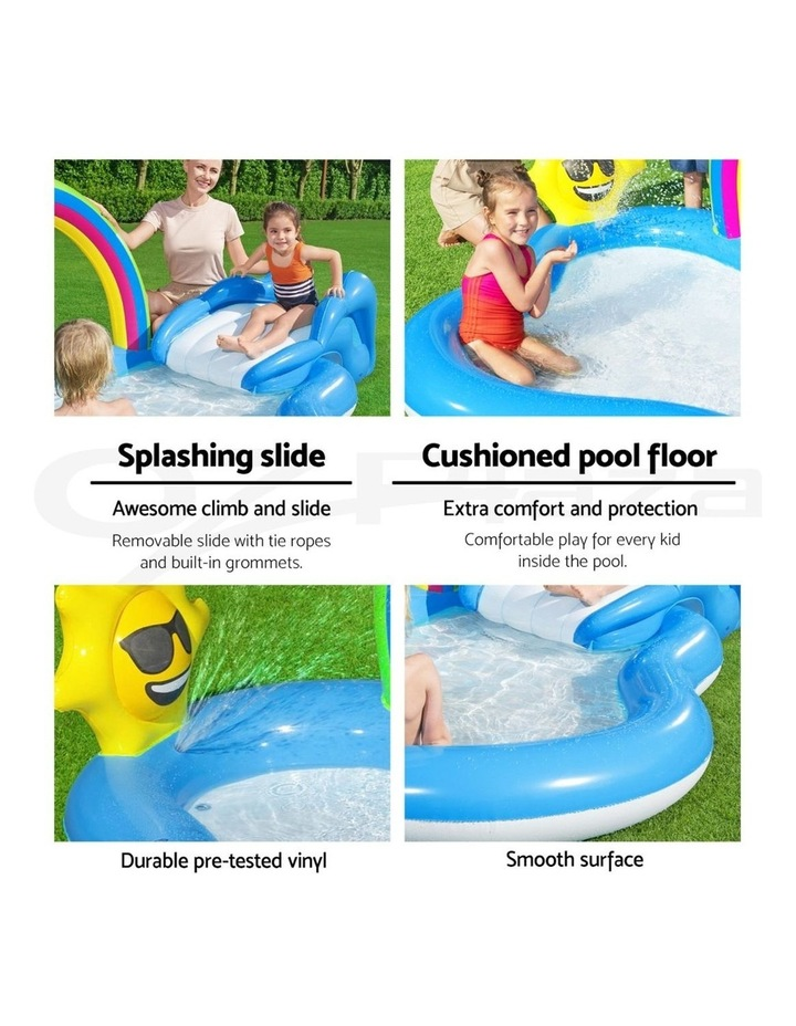 Swimming Pool Rainbow Slide Play Above Ground Kids Inflatable Pools image 4
