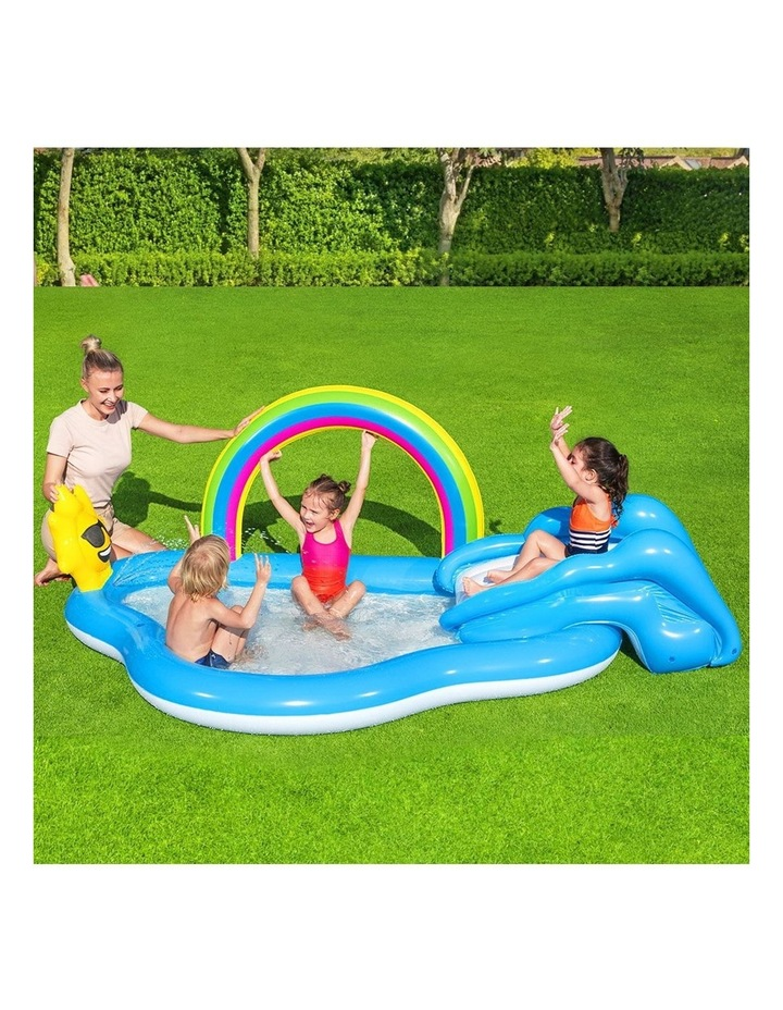 Swimming Pool Rainbow Slide Play Above Ground Kids Inflatable Pools image 6