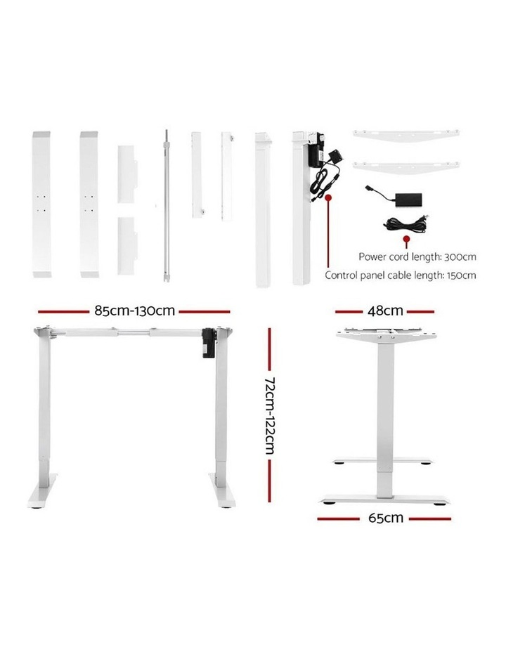 Standing Desk Motorised Sit Stand Table Riser Height Adjustable Electric Computer Table Laptop Desks image 2