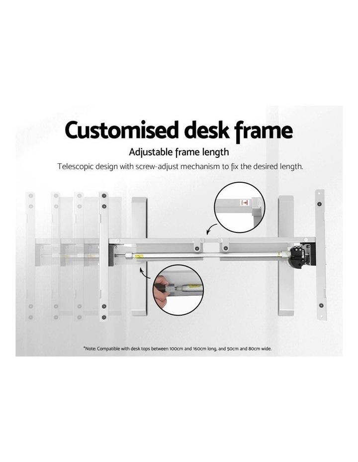 Standing Desk Motorised Sit Stand Table Riser Height Adjustable Electric Computer Table Laptop Desks image 5