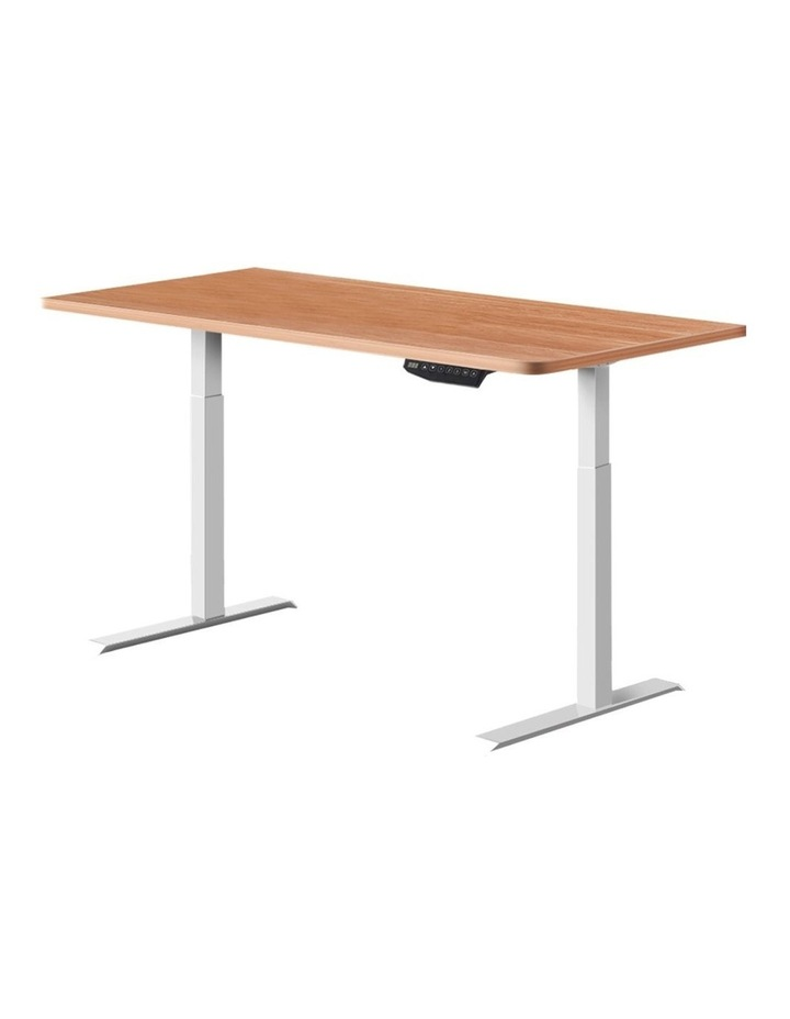 Standing Desk Sit Stand Riser Motorised Electric Computer Laptop Table Home Office Dual Motor 120cm image 1
