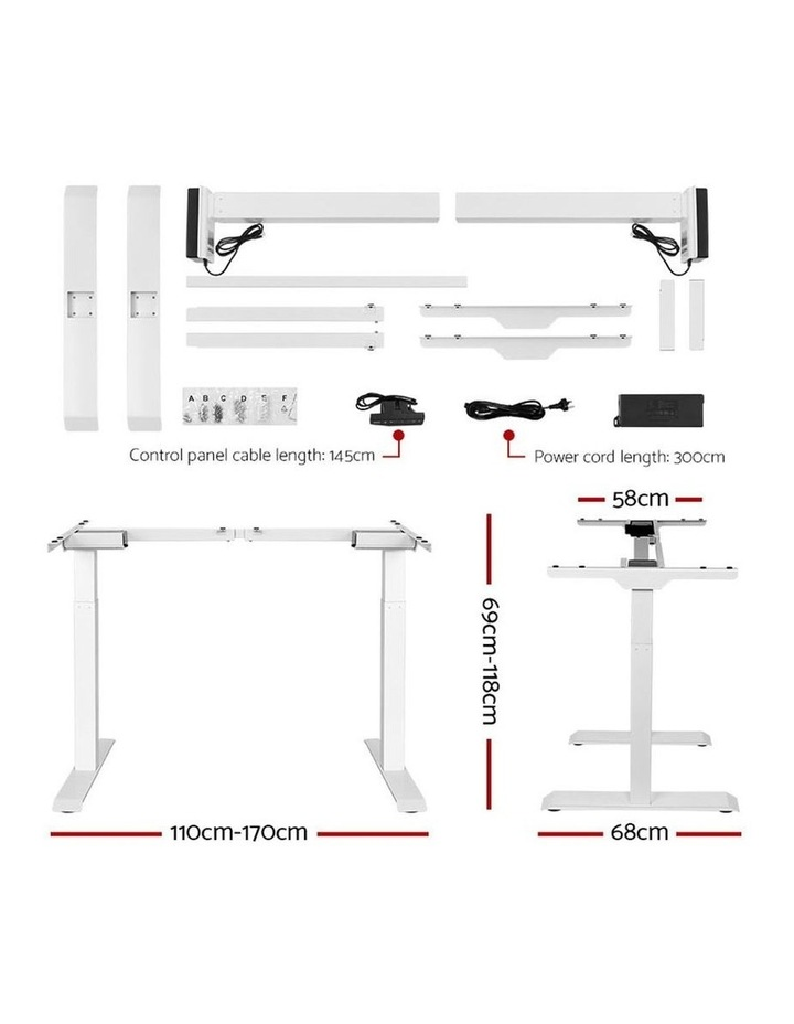 Standing Desk Sit Stand Riser Motorised Electric Computer Laptop Table Home Office Dual Motor 120cm image 2