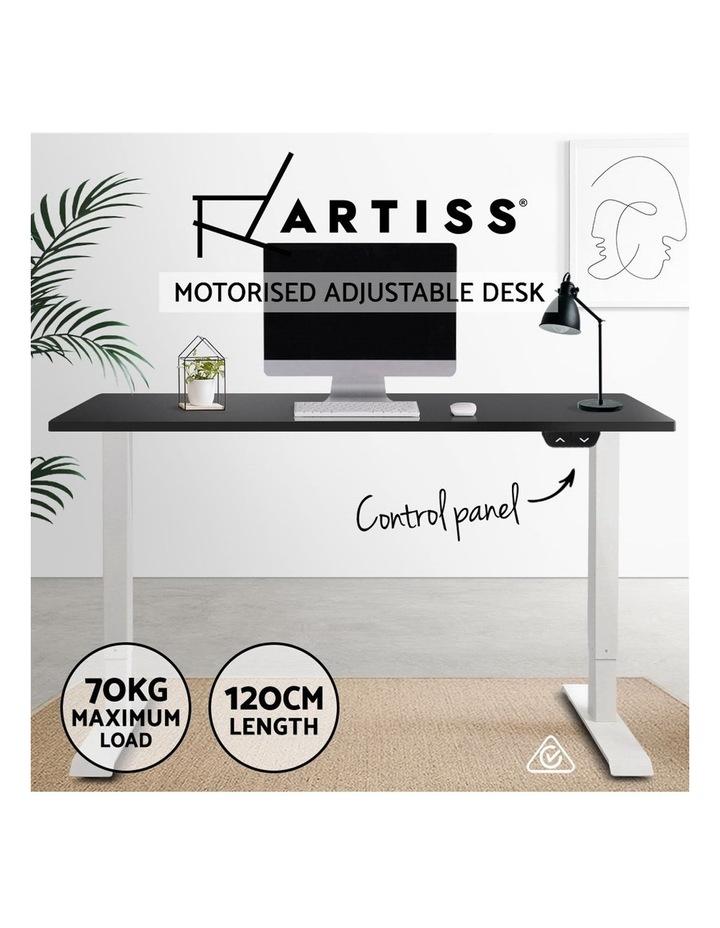Standing Desk Motorised Electric Adjustable Sit Stand Table Riser Computer Laptop Stand 120cm image 4