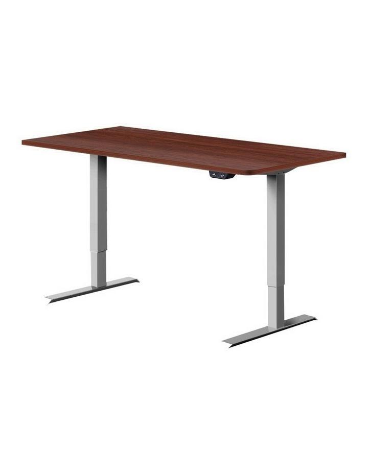 Standing Desk Sit Stand Table Height Adjustable Motorised Electric Grey Frame 120cm Walnut image 1