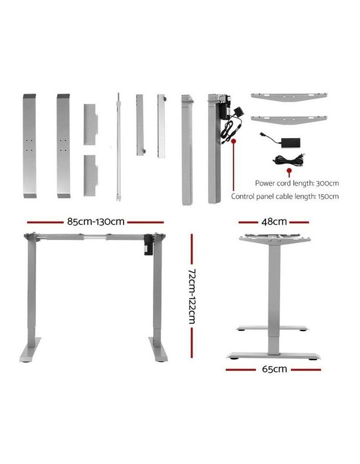 Standing Desk Sit Stand Table Height Adjustable Motorised Electric Grey Frame 120cm Walnut image 2