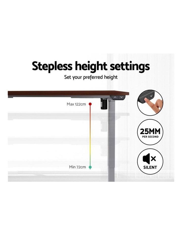 Standing Desk Sit Stand Table Height Adjustable Motorised Electric Grey Frame 120cm Walnut image 5