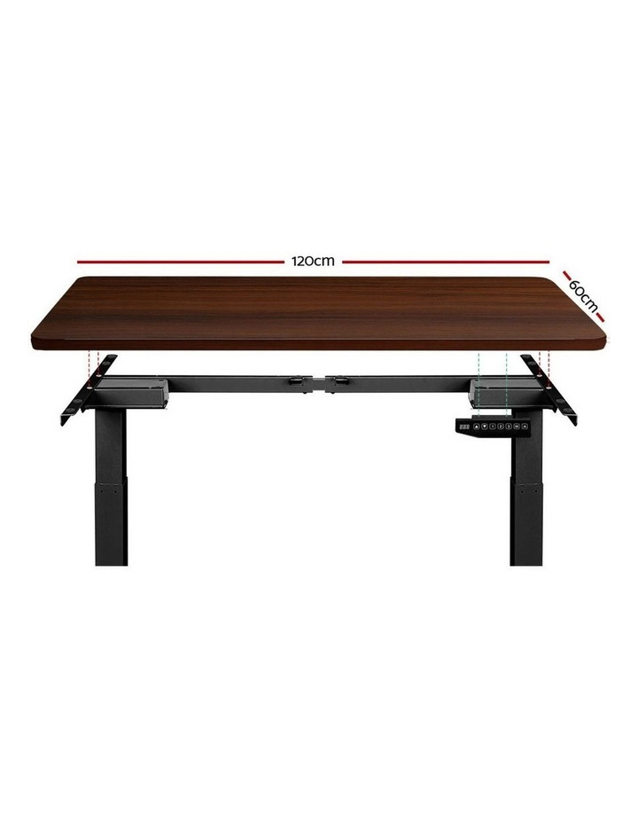 Standing Desk Sit Stand Motorised Electric Frame Computer Laptop Table 120cm Dual Motor image 3