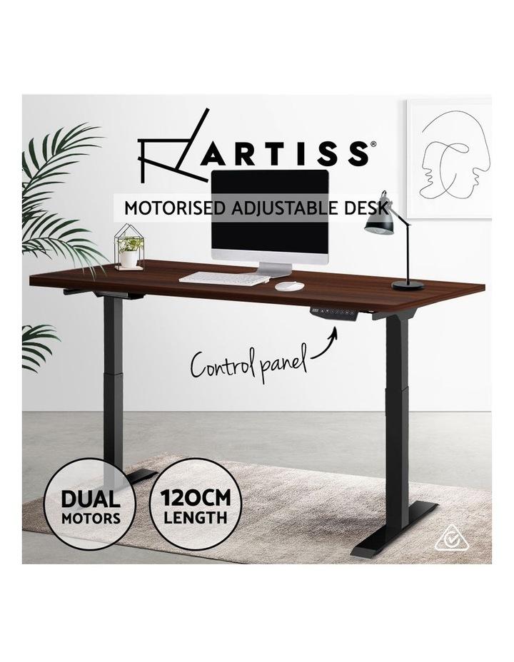 Standing Desk Sit Stand Motorised Electric Frame Computer Laptop Table 120cm Dual Motor image 4
