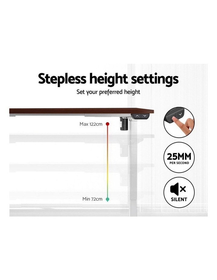 Standing Desk Sit Stand Table Riser Motorised Electric Height Adjustable Computer Laptop Table Home Office White Frame image 5