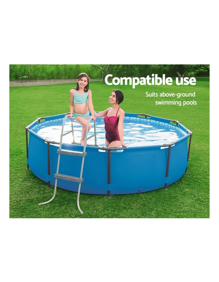 Ladder Above Ground Swimming Pools 84cm 32 inch Deep Removable Steps image 4