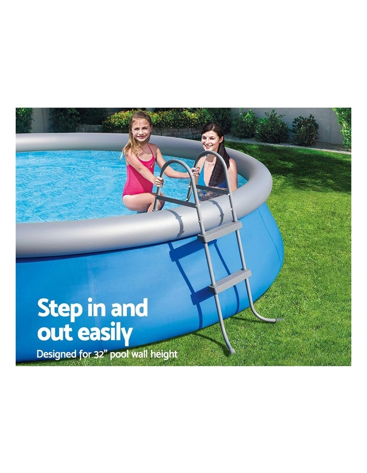 Ladder Above Ground Swimming Pools 84cm 32 inch Deep Removable Steps image 5