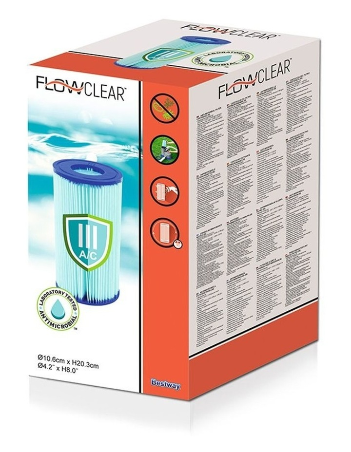 Filter Cartridge 6X For Above Ground Swimming Pool 1500GPH Filter Pump image 3