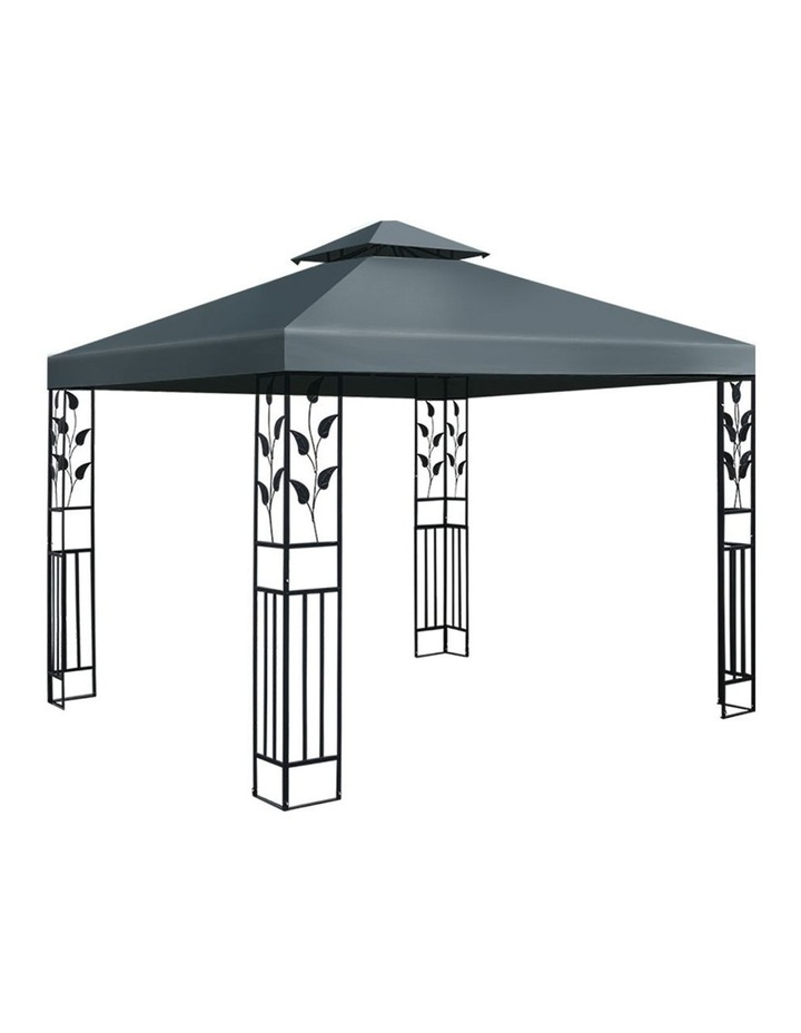 Gazebo 3x3m Party Marquee Outdoor Wedding Event Tent Iron Art Canopy Grey image 1