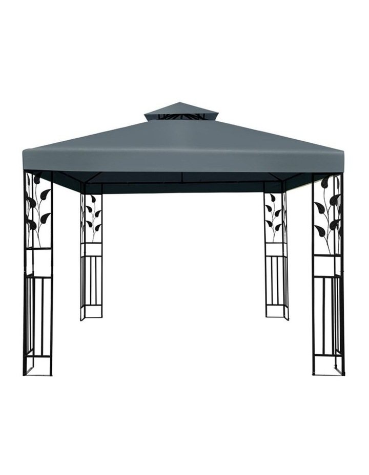Gazebo 3x3m Party Marquee Outdoor Wedding Event Tent Iron Art Canopy Grey image 3