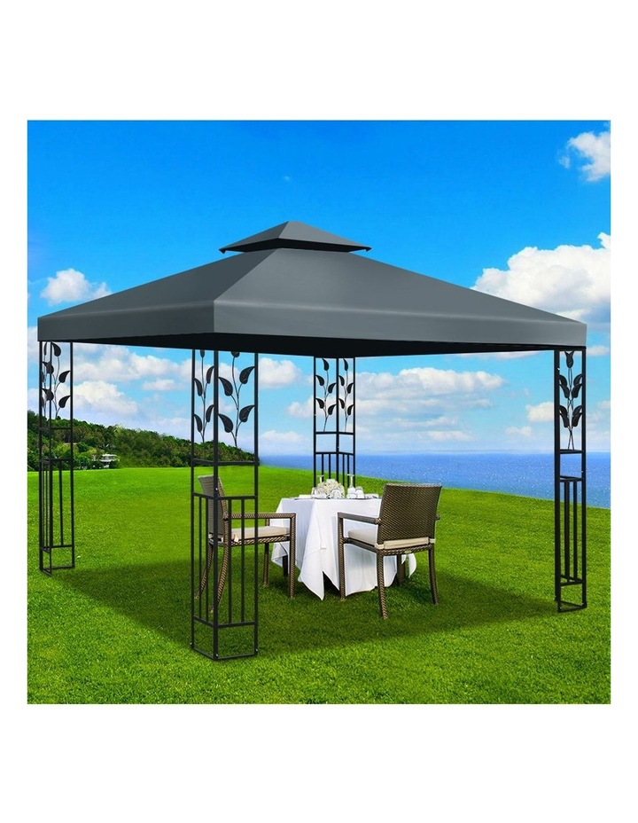 Gazebo 3x3m Party Marquee Outdoor Wedding Event Tent Iron Art Canopy Grey image 6