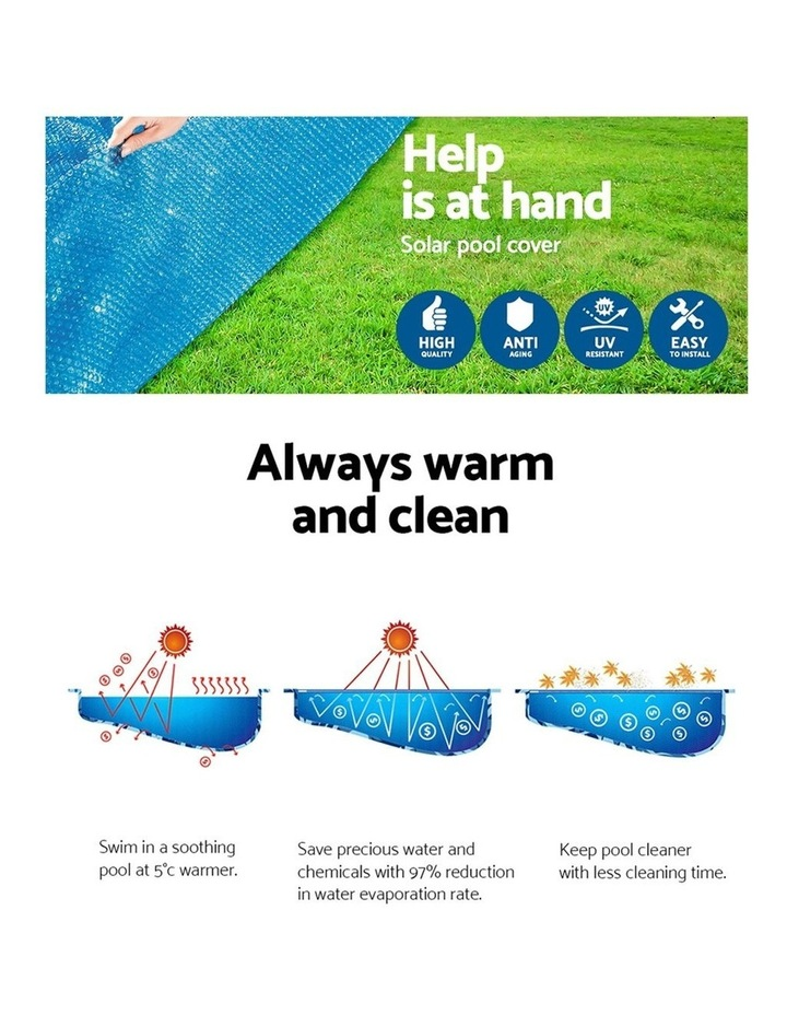 Solar Pool Cover Blanket for Swimming Pool 10ft 305cm Round Pool 58241 image 5