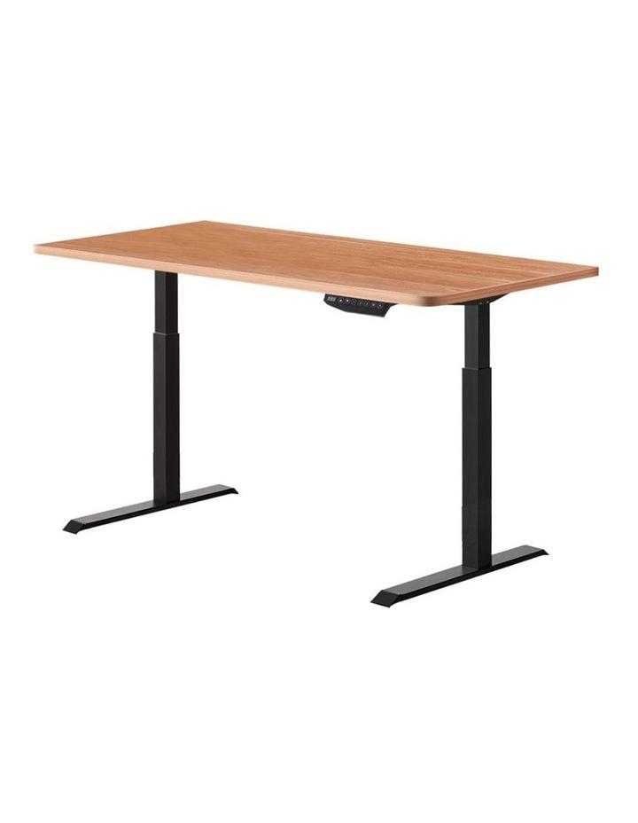 Standing Desk Motorised Sit Stand Table Height Adjustable Laptop Computer Desks Dual Motors 140cm image 1