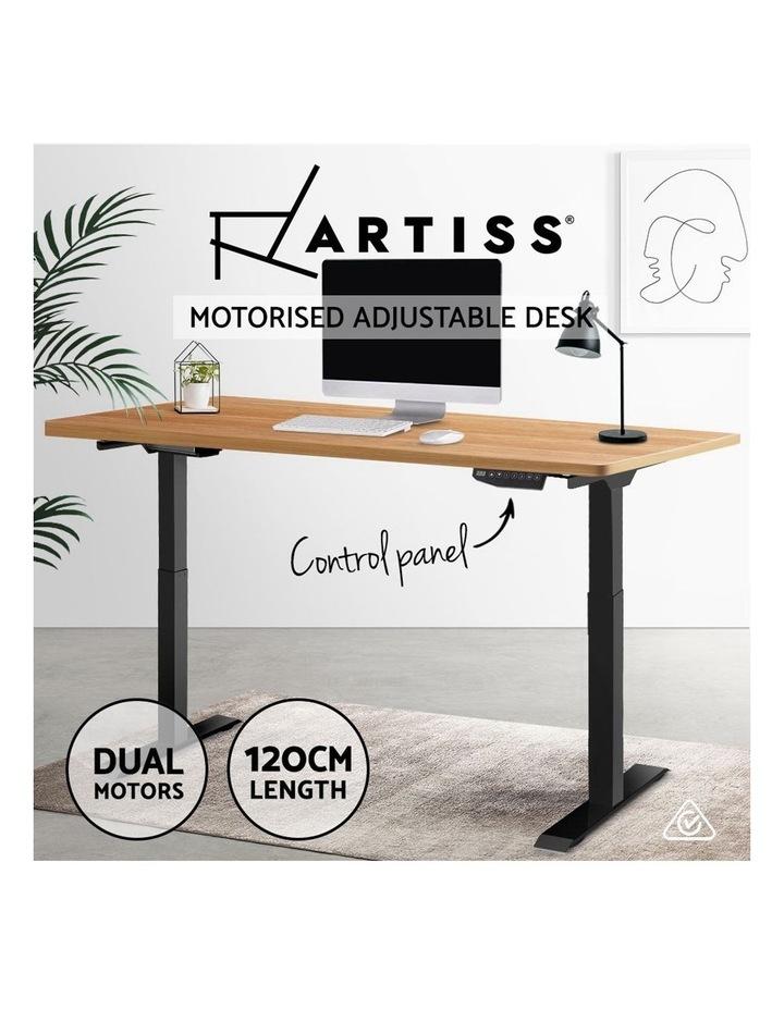 Standing Desk Motorised Sit Stand Table Height Adjustable Laptop Computer Desks Dual Motors 140cm image 4