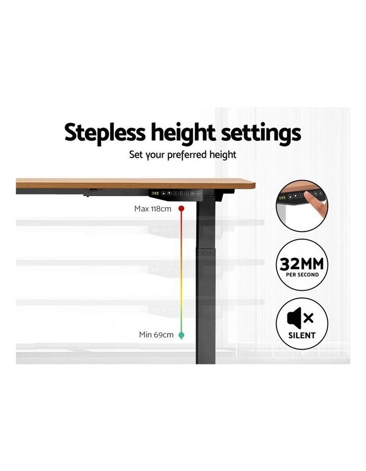 Standing Desk Motorised Sit Stand Table Height Adjustable Laptop Computer Desks Dual Motors 140cm image 5