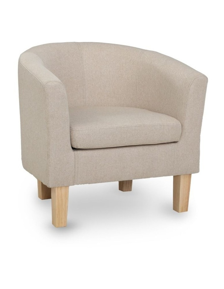 Armchair Lounge Chair Tub Accent Armchairs Fabric Sofa Chairs Wooden image 1