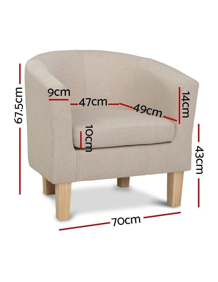 Armchair Lounge Chair Tub Accent Armchairs Fabric Sofa Chairs Wooden image 2