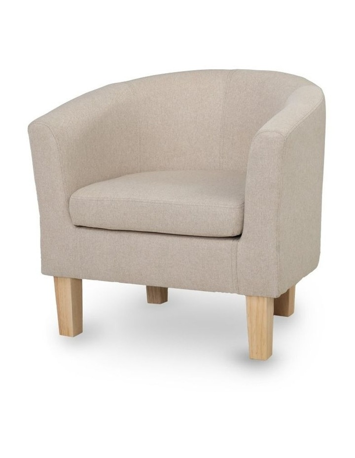 Armchair Lounge Chair Tub Accent Armchairs Fabric Sofa Chairs Wooden image 3