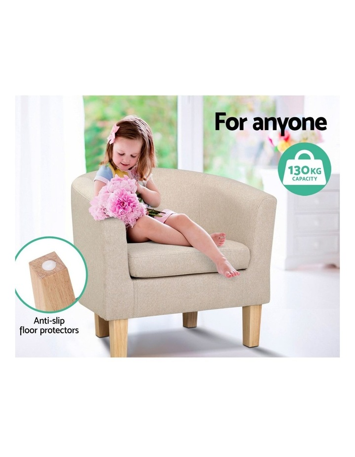 Armchair Lounge Chair Tub Accent Armchairs Fabric Sofa Chairs Wooden image 5