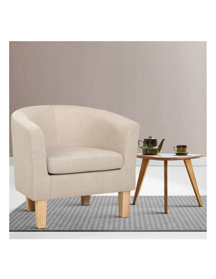 Armchair Lounge Chair Tub Accent Armchairs Fabric Sofa Chairs Wooden image 6
