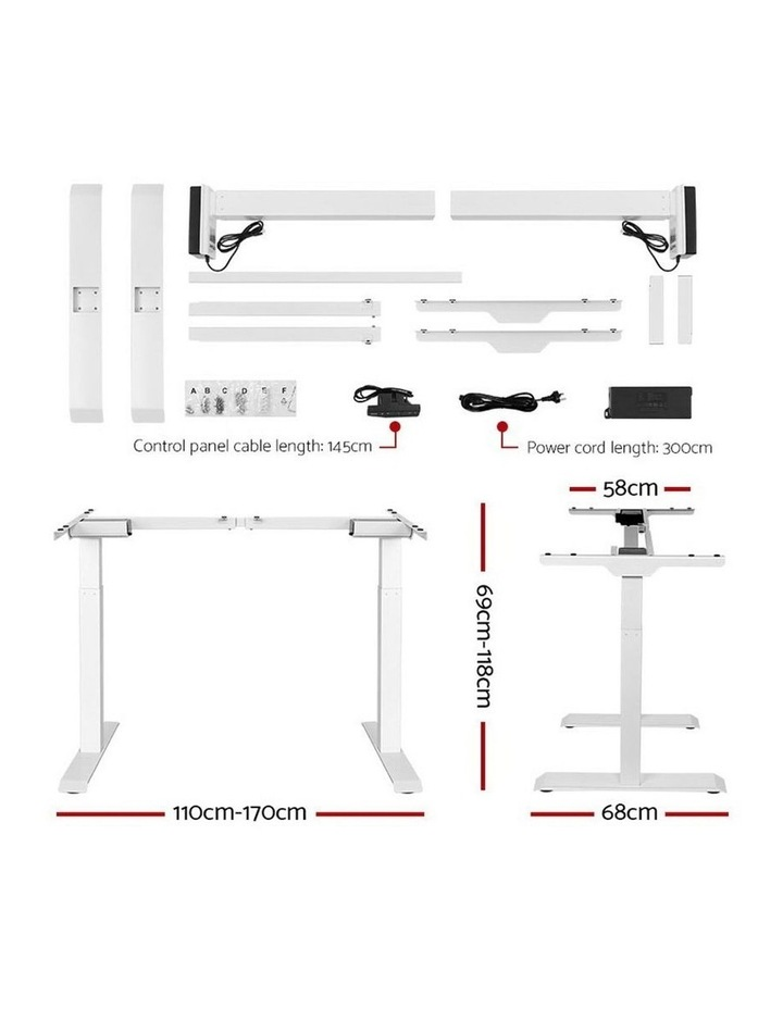 Standing Desk Motorised Sit Stand Table Height Adjustable Computer Laptop Desks Dual Motors 140cm White image 2