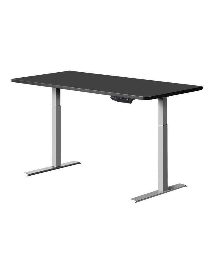 Standing Desk Motorised Sit Stand Table Riser Adjustable Computer Laptop Desks Dual Motors 140cm image 1