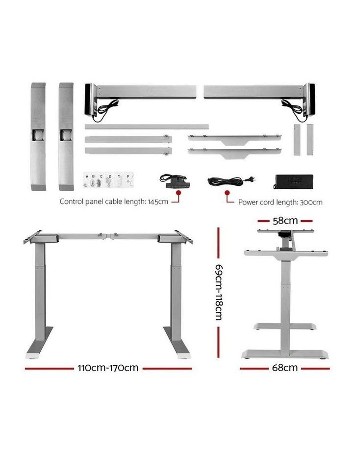 Standing Desk Motorised Sit Stand Table Riser Adjustable Computer Laptop Desks Dual Motors 140cm image 2