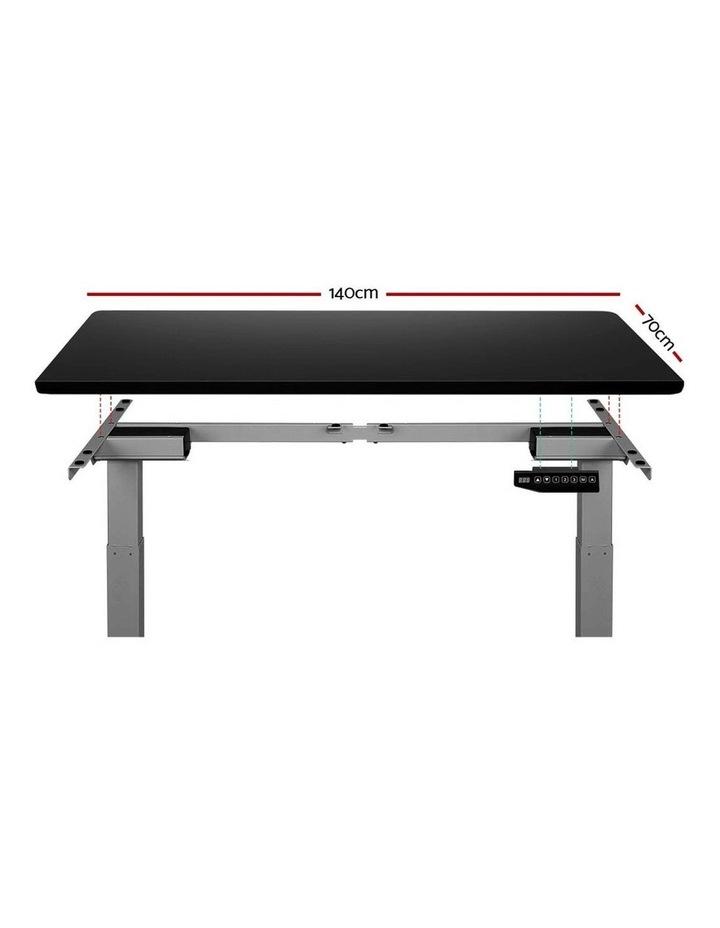 Standing Desk Motorised Sit Stand Table Riser Adjustable Computer Laptop Desks Dual Motors 140cm image 3