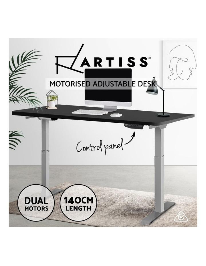 Standing Desk Motorised Sit Stand Table Riser Adjustable Computer Laptop Desks Dual Motors 140cm image 4