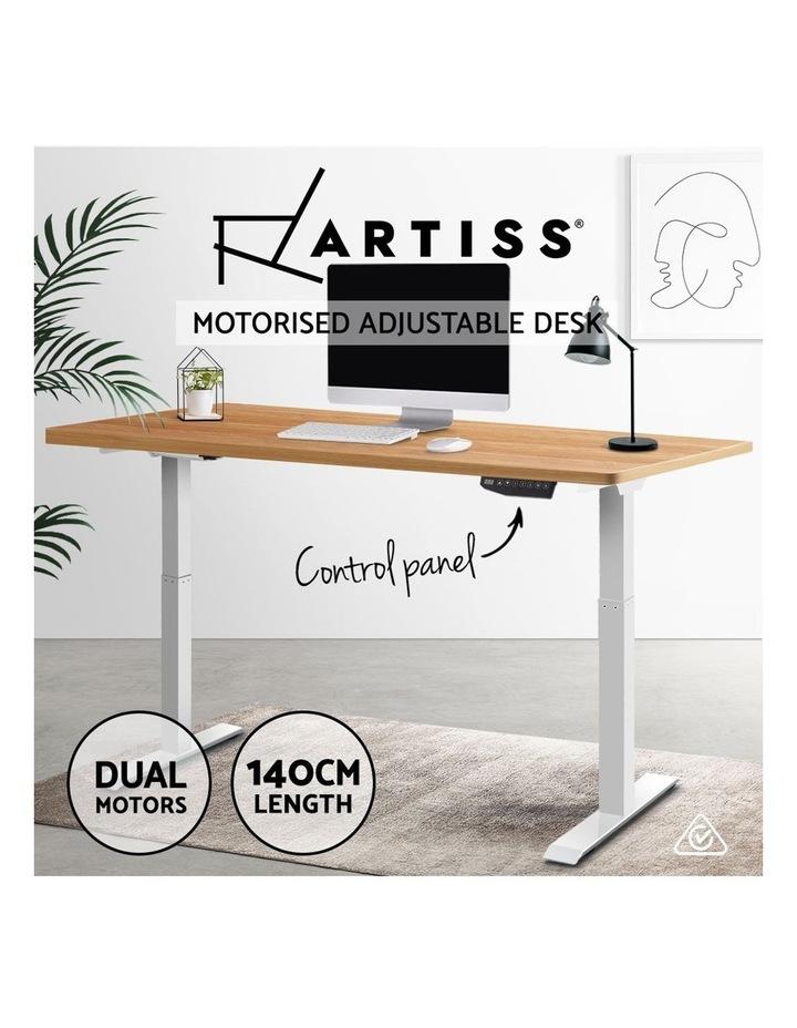 Standing Desk Motorised Sit Stand Table Riser Electric Computer Laptop Desks Dual Motors 140cm image 4
