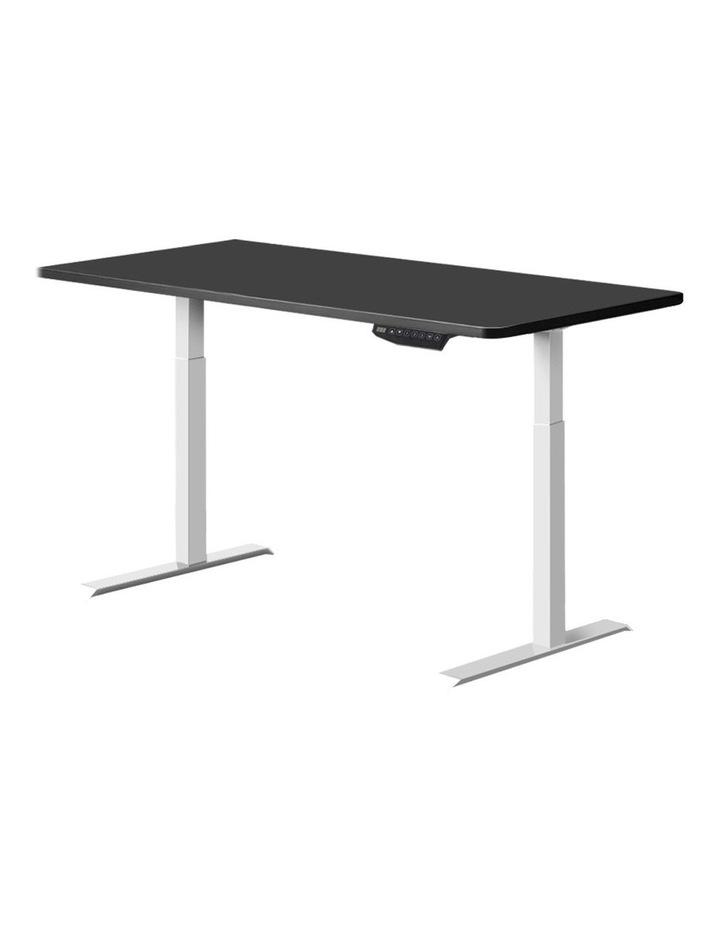 Standing Desk Adjustable Sit Stand Table Motorised Electric Computer Laptop Desks Dual Motors 140cm image 1