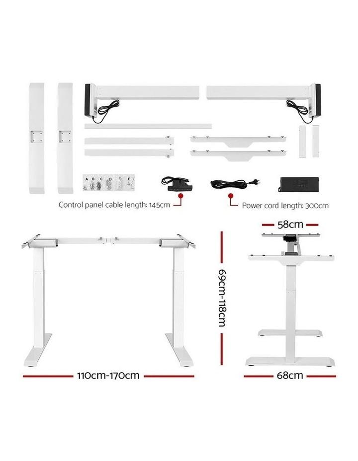 Standing Desk Adjustable Sit Stand Table Motorised Electric Computer Laptop Desks Dual Motors 140cm image 2