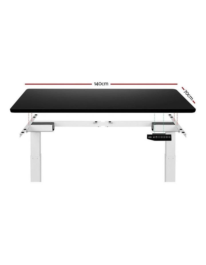 Standing Desk Adjustable Sit Stand Table Motorised Electric Computer Laptop Desks Dual Motors 140cm image 3