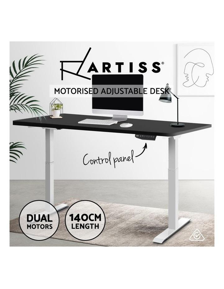 Standing Desk Adjustable Sit Stand Table Motorised Electric Computer Laptop Desks Dual Motors 140cm image 4
