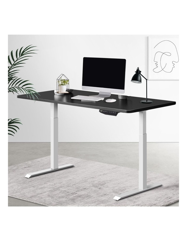 Standing Desk Adjustable Sit Stand Table Motorised Electric Computer Laptop Desks Dual Motors 140cm image 6