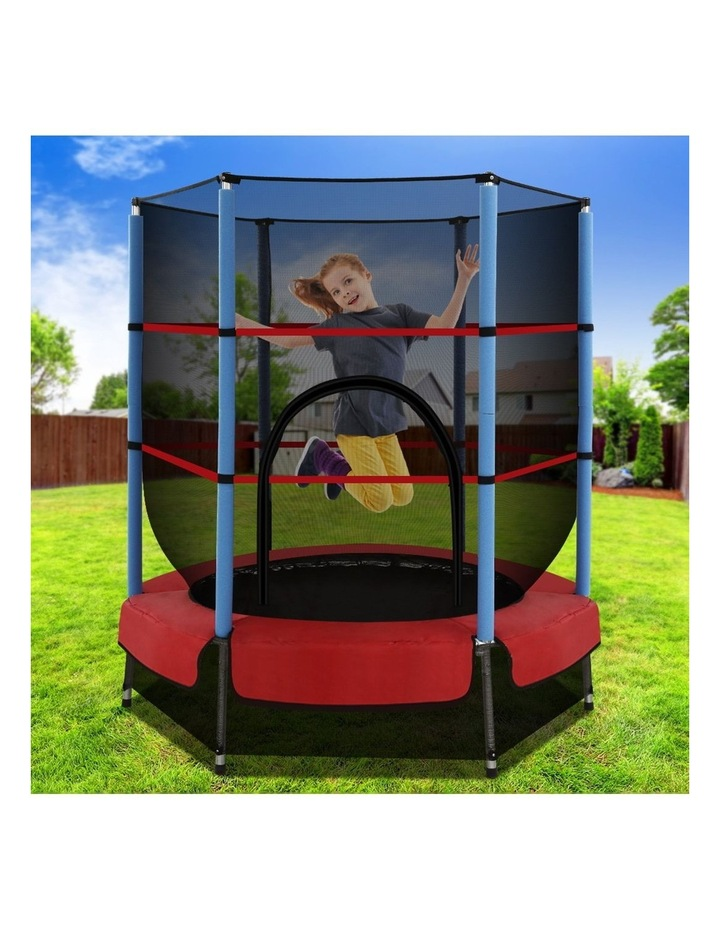 4.5FT Trampoline Round Trampolines Kids Enclosure Safety Net Padding Outdoor Indoor Gift Present image 6