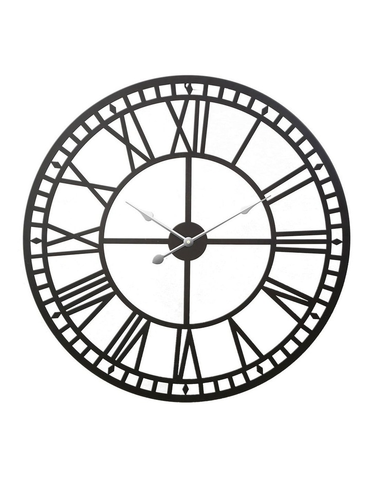 Wall Clock Extra Large Modern Silent No Ticking Movements 3D Home Office Kitchen Decor - 80cm image 1