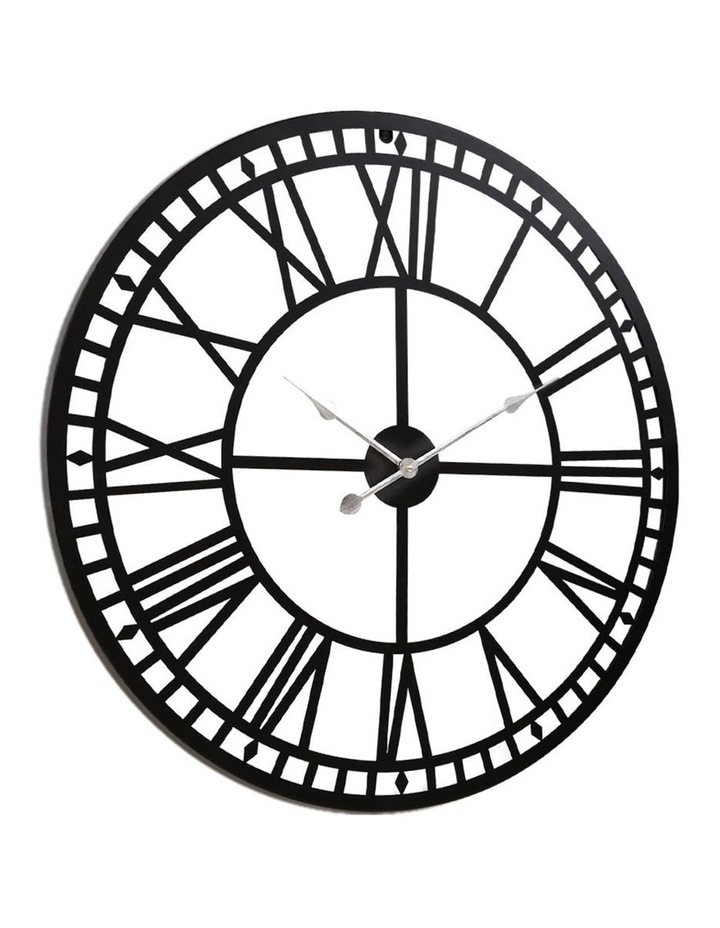 Wall Clock Extra Large Modern Silent No Ticking Movements 3D Home Office Kitchen Decor - 80cm image 3