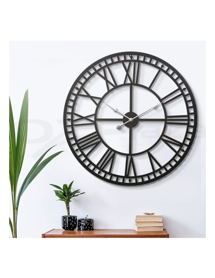 Wall Clock Extra Large Modern Silent No Ticking Movements 3D Home Office Kitchen Decor - 80cm image 6