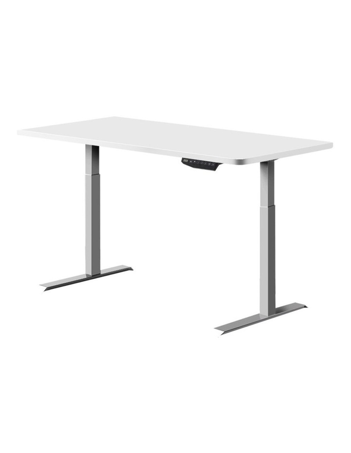 Sit Stand Standing Desk Motorised Electric Adjustable Laptop Computer Table Dual Motors 140cm image 1
