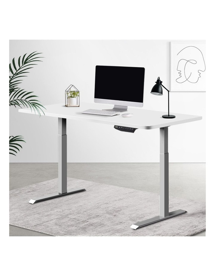 Sit Stand Standing Desk Motorised Electric Adjustable Laptop Computer Table Dual Motors 140cm image 6