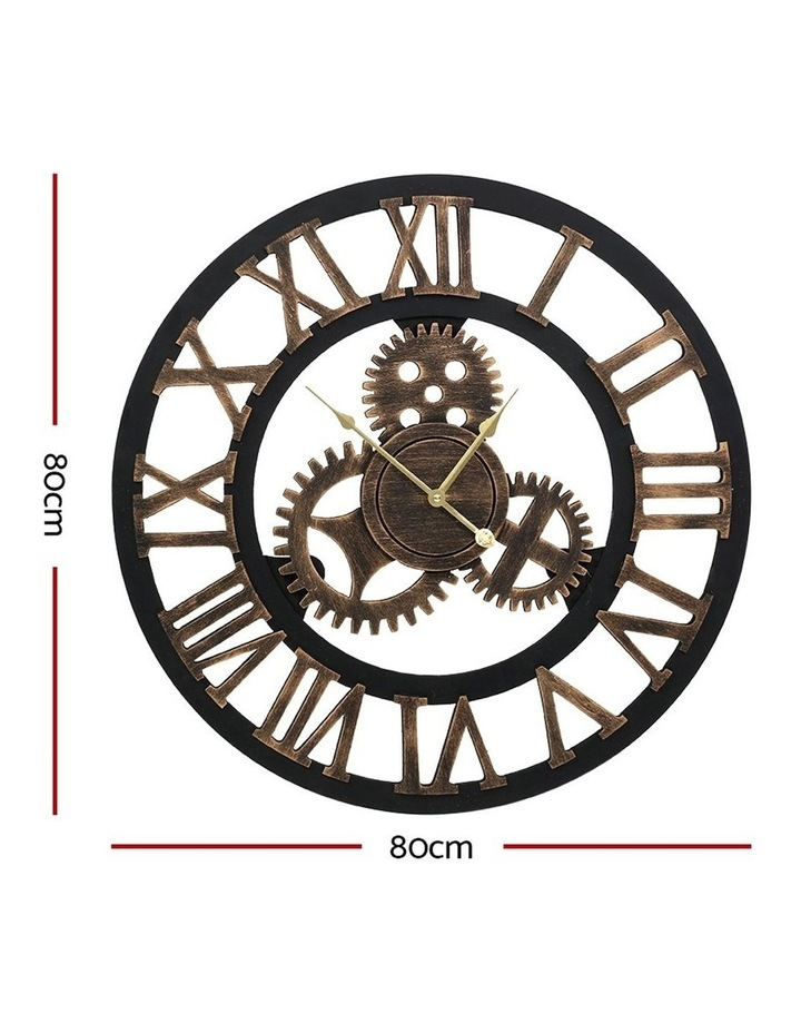 Wall Clock Extra Large Vintage Silent No Ticking Movements 3D Home Office Decor - 80cm image 2